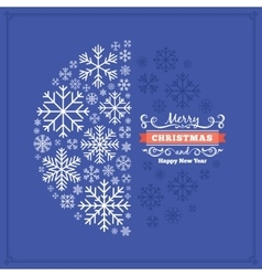 christmas decorating design made of vector image