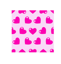 colourful seamless little love hearts vector image