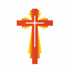 Cross of the lord and savior jesus christ vector