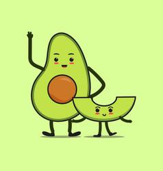 Cute avocado icon vector