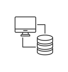 database synchronized with computer vector image