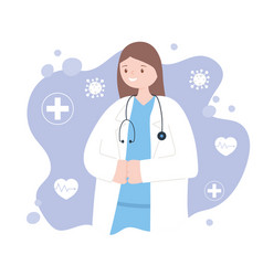 doctors and nurses female physician vector image