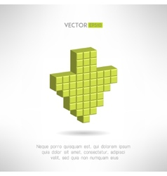 Download icon in special pixel design Clean and vector