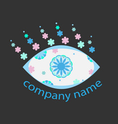 eye symbol for the logo vector image