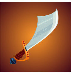 fantasy pirate saber cartoon sword icon magic vector image vector image