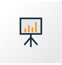 Financial data colorful outline symbol premium vector
