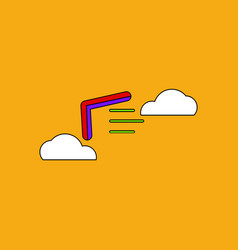 Flat icon design collection boomerang in the sky vector