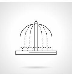 Fountains decor flat line icon vector image