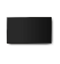 four k monitor led tv with white background vector image