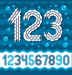 funky ornate numbers collection rounded bold vector image