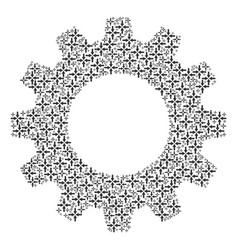 gear wheel composition of collide arrows icons vector image