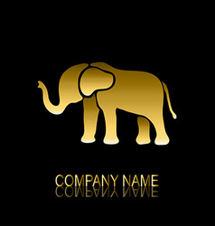 golden elephant symbol vector image