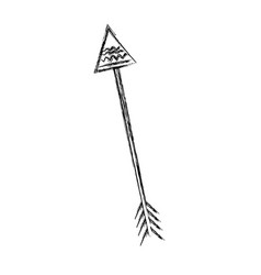 Grunge arrow native object with ornamental design vector