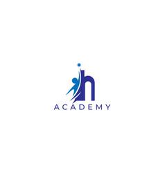 Hi academy education logo design vector