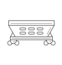 Hopper car line icon vector