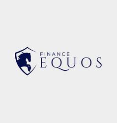 Horse financial insurance creative logo template vector