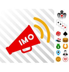 Imo megaphone alert icon with bonus vector