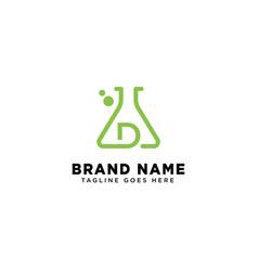 Initial d molecular dna logo design template icon vector