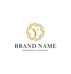 Initial letter y luxury ornament logo design vector