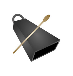 Isolated cowbell musical instrument vector