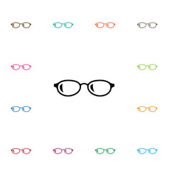 isolated eyeglasses icon geek element can vector image