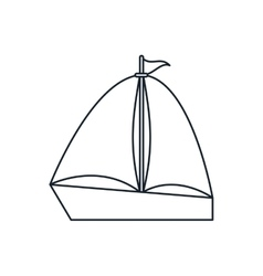 Isolated sailboat ship design vector