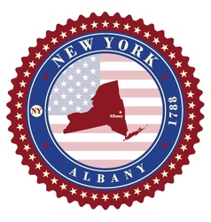 Label sticker cards of state new york usa vector