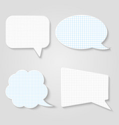 lined blank retro speech bubbles set vector image