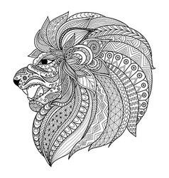 Lion king coloring vector