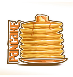 Logo for pancake vector