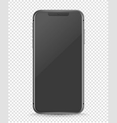 modern smartphone with blank screen layered mockup vector image