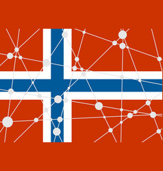 Norway flag concept vector