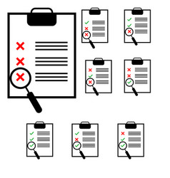 notes on the black tablet with different colours vector image