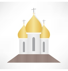 Orthodox cathedral church vector