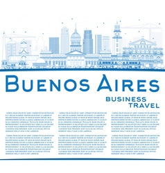 Outline Buenos Aires Skyline vector image