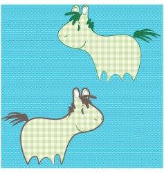 Patchwork ponies vector