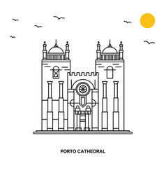 Porto cathedral monument world travel natural vector