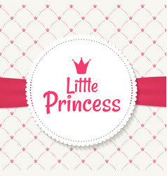 princess background with crown vector image