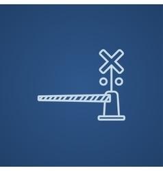 Railway barrier line icon vector image