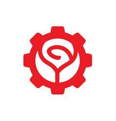 Red rose flower logo icon design vector