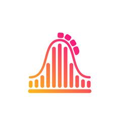 Roller coaster icon amusement park sign vector
