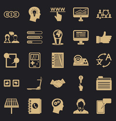 seo interface icons set simple style vector image