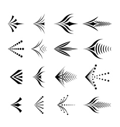Set of decorative graphical arrows vector image