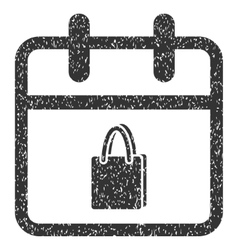 Shopping Day Grainy Texture Icon vector