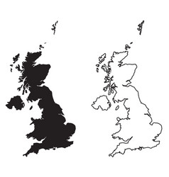 simple only sharp corners map - united kingdom vector image