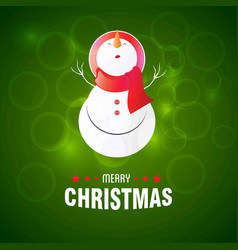 snowman with green background vector image
