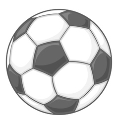 Soccer ball icon black monochrome style vector image