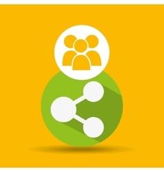 Social media group sharing design vector