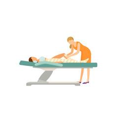 Spa salon body wrap procedure isolated icon vector