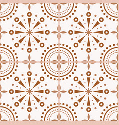 Spanish or portuguese brown tiles pattern vector